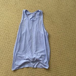 Gap fit purple workout tank open back tie